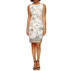 Be By CHETTA B Sleeveless Sheath Dress