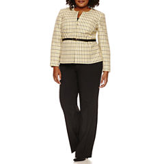 Isabella Long Sleeve 2-pc. Pant Set-Plus