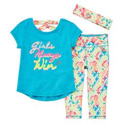 Rbx Girls 3-pc. Legging Set-Toddler