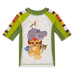 Disney Boys Lion Guard Solid Rash Guard-Big Kid