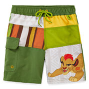 Disney Boys Lion Guard Solid Trunks-Big Kid