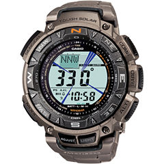 Casio® Pro Trek Mens Triple Sensor Multifunction Titanium Watch PAG240T-7CR
