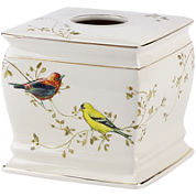 Avanti Gilded Birds Bath Tissue Holder