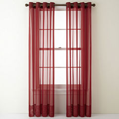 Liz Claiborne® Lisette Grommet-Top Sheer Curtain Panel