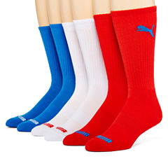 Puma® Mens 6-pk. Crew Socks