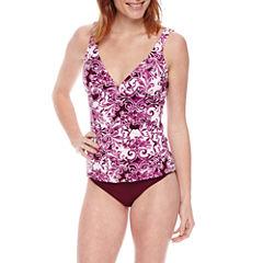 Liz Claiborne Pattern Tankini Swimsuit Top or Hipster Bottom