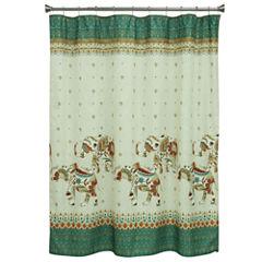 Bacova Guild Boho Elephant Shower Curtain