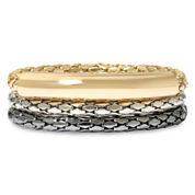 nicole by Nicole Miller® Metallic Stretch Bracelet Trio