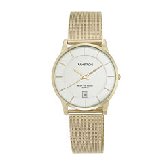 Armitron® Mens Gold-Tone Bracelet Watch