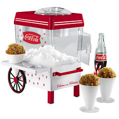 Nostalgia SCM550COKE Coca-Cola Snow Cone Maker & Shaved Ice Storage