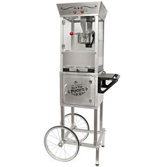 Nostalgia SPC700SS 53-Inch Tall Commercial 6-OunceKettle Stainless Steel Popcorn Cart
