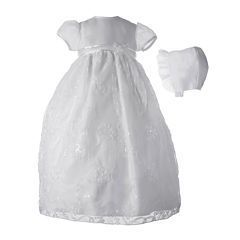 Keepsake® Short-Sleeve Christening Dress and Hat - Baby Girls newborn-12m