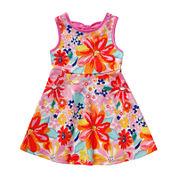 Youngland® Sleeveless Floral Print Knit Sundress - Toddler Girls 2t-4t
