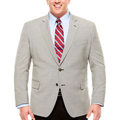 Stafford Year-Round Stretch Black White Houndstooth Sport Coat-Big and Tall