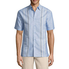 Havanera Short Sleeve Striped Button-Front Shirt