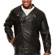 i jeans by Buffalo Polyurethane Motorcycle Jacket Big and Tall