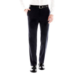 Men's JF J. Ferrar Navy Flat-Front Variegated Stripe Slim Fit Suit Pants