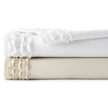 Jcpenney Home 300tc Easy Care Ruffle Sheet Set