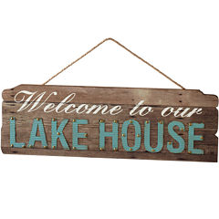 Welcome to Our Lake House Wall Art