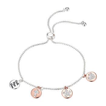 Sparkle Allure Crystal Pure Silver Over Brass 9 34 Inch Box Bolo Bracelet