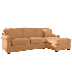 Fabric Possibilities Roll-Arm 2-pc. Right-Arm Chaise/Loveseat Sectional