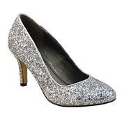 Michael Antonio Finnea Low-Heel Glitter Pumps - Wide Width