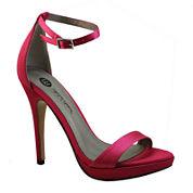 Michael Antonio Lovina Ankle-Strap Satin Platform Sandals