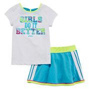Asics® Tee and Skort Set - Preschool Girls 4-6x