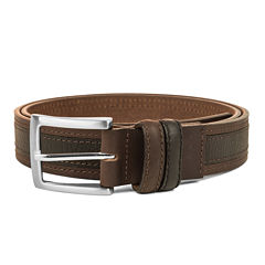 Haggar® Leather Two-Tone Stitch Belt