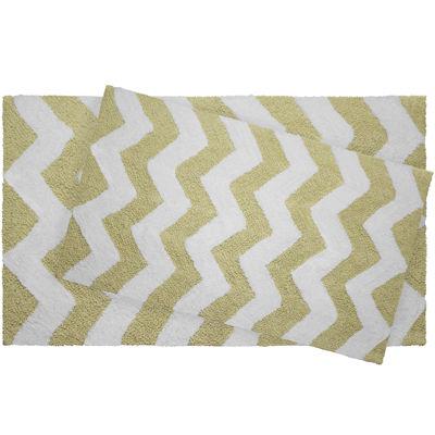 Jeane Pierre Zigzag Reversible Cotton 2 Pc. Bath Mat Set