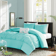 Mi Zone Cristy Ruched Duvet Cover Set