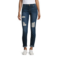 Vanilla Star Crochet Skinny Jeans-Juniors