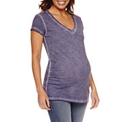 a.n.a Short Sleeve V Neck T-Shirt-Maternity
