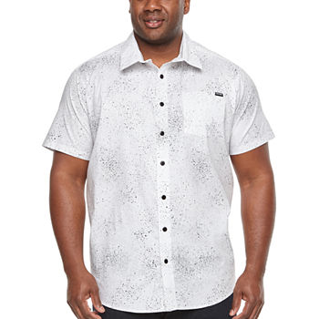 Zoo York Big And Tall Mens Short Sleeve Button front Shirt