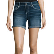 Ariya™ Curvy Denim Low-Rise Shorts - Juniors