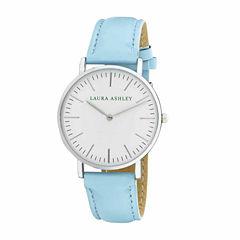 Laura Ashley Womens Pastel Blue Strap Watch-LA31020BE