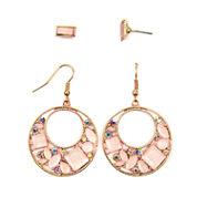 Arizona 4-pc. Pink Earring Sets