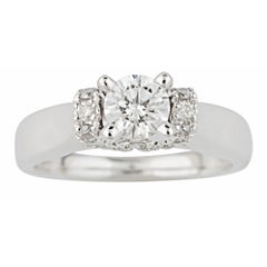 True Love, Celebrate Romance® 1 CT. T.W. Certified Diamond Solitaire Plus Ring