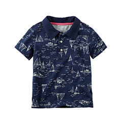 Carter's Short Sleeve Solid Polo Shirt - Baby Boys