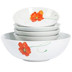 Tabletops Gallery® Poppy 5-pc. Pasta Set