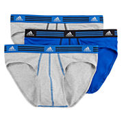 adidas® 3-pk. Climalite® Athletic Stretch Briefs