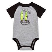 Okie Dokie® Short-Sleeve Raglan Bodysuit - Baby Boys newborn-24m