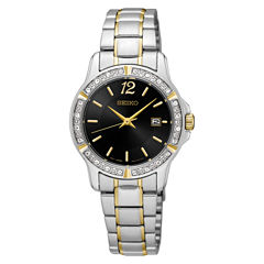 Seiko Womens Two Tone Bracelet Watch-Sur716