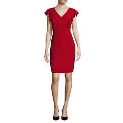 Melrose Ruffle Sleeve Sheath Dress
