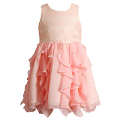 Young Land Sleeveless Corkscrew Dress - Toddler Girls