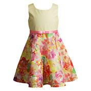 Young Land Sleeveless Skater Dress - Toddler