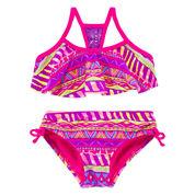 Breaking Waves Girls Geometric Bikini Set - Preschool