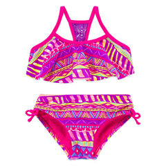 Breaking Waves Girls Geometric Bikini Set - Preschool