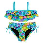 Breaking Waves Girls Tie Dye Bikini Set - Preschool