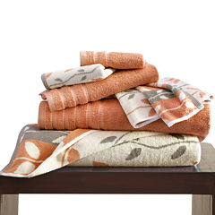 Pacific Coast Textiles Organic Vines Yarn Dyed 6-pc. Bath Towel Set